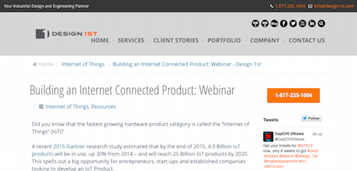 Building an Internet Connected Product Webinar