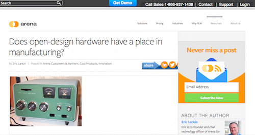 Does Open-Design Hardware Have a Place in Manufacturing?