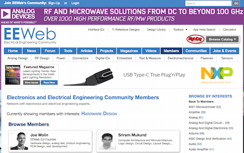 Electronics and Electrical Engineering Community Members Hardware Design