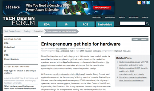 Entrepreneurs Get Help for Hardware