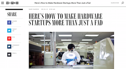 Here's How to Make Hardware Startups More Than Just a Fad