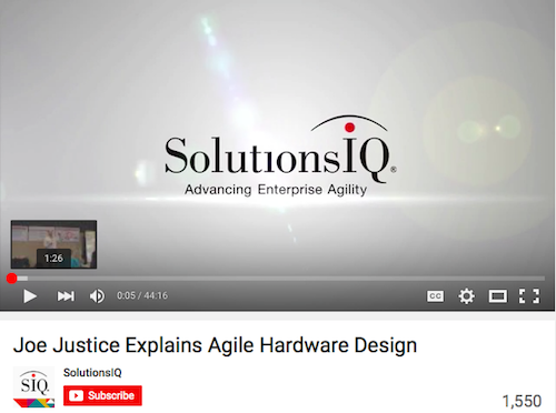 Joe Justice Explains Agile Hardware Design