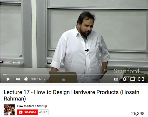 Lecture 17 - How to Design Hardware Products
