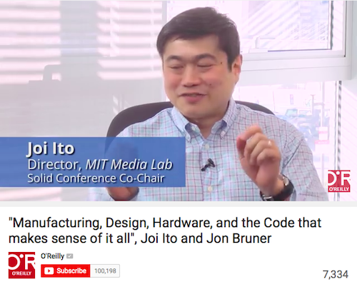 Manufacturing, Design, Hardware, and the Code that Makes Sense of It all, Joi Ito and Jon bruner