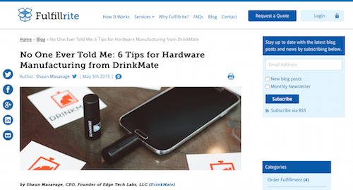 No One Ever Told Me 6 Tips for Hardware Manufacturing from DrinkMate