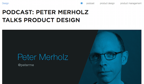 Podcast Peter Merholz Talks Product Design