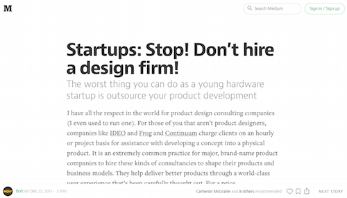 Startups Stop! Don't hire a design firm!