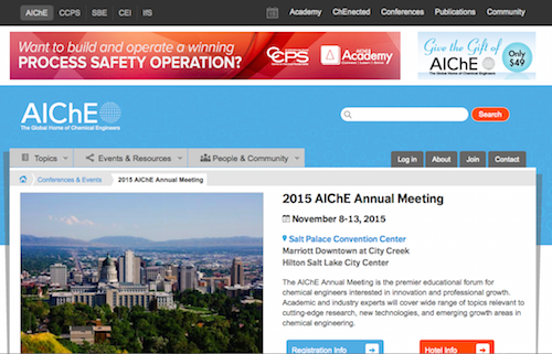2015 AIChE Annual Meeting Product Design Symposium