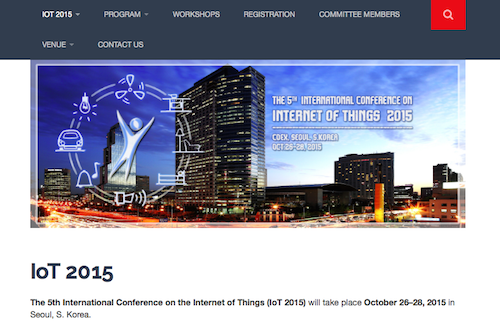 5th International Conference on Internet of Things 2015