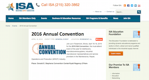 ISA 2016 Annual Convention