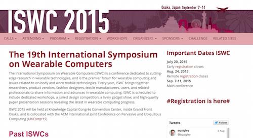 International Symposium on Wearable Computers