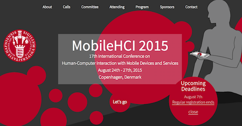 MobileHCI 2015