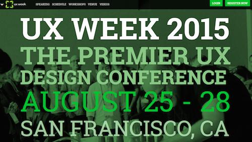 UX Week 2015