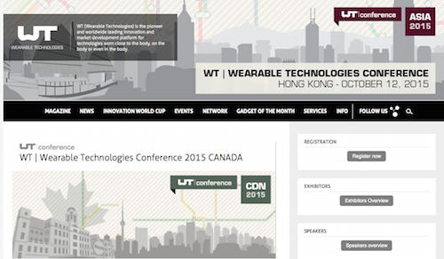 WT|Wearable Technologies Conference 2015 Canada