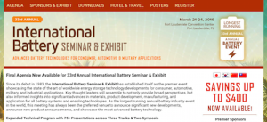 33rd Annual International Battery Seminar and Exhibit