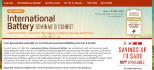 33rd Annual International Battery Seminar and Exhibit