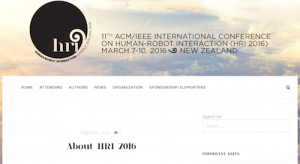 ACM IEEE International Conference on Human Robot Interaction HRI 2016