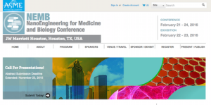 ASME NanoEngineering for Medicine and Biology NEMB Conference