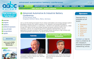 Advanced Automotive and Industrial Battery Conference AABC Europe