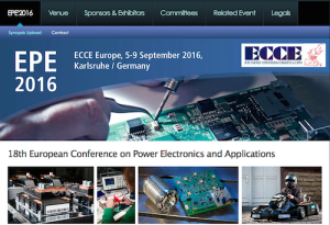 European Conference on Power Electronics and Applications EPE ECCE Europe