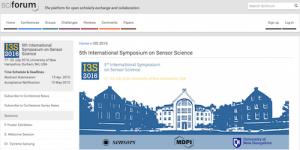 I3S2016 5th International Symposium on Sensor Science