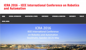 IEEE International Conference on Robotics and Automation ICRA 2016