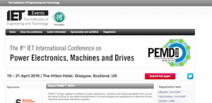 International Conference on Power Electronics, Machines and Drives PEMD