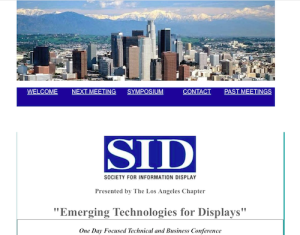 SID Emerging Technologies for Displays