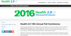2016 Health 2.0 10th Annual Fall Conference