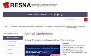 2016 RESNA NCART Conference