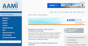 AAMI 2016 Conference and Expo