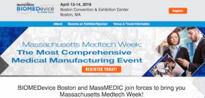 BIOMEDevice 2016 at Massachusetts Medtech Week