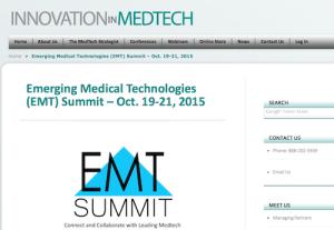 Emerging Medical Technologies EMT Summit