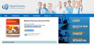 Medical Devices Summit 2016