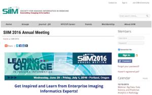 SIIM 2016 Annual Meeting