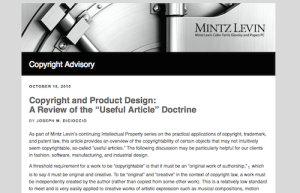 Copyright and Product Design A Review of the Useful Article Doctrine