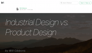 Industrial Design vs Product Design