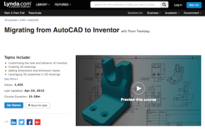 Migrating from AutoCAD to Inventor with Thom Tremblay