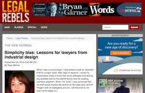 Simplicity Bias Lessons for Lawyers From Industrial Design