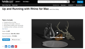 Up and Running with Rhino for Mac with Chris Reilly
