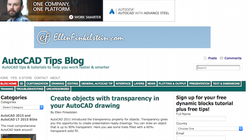 AutoCAD Tips Blog