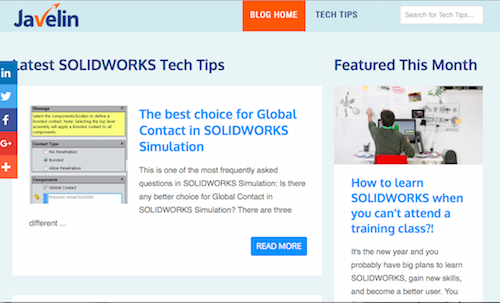 SOLIDWORKS Tech Tips Videos and Tutorials from Javelin