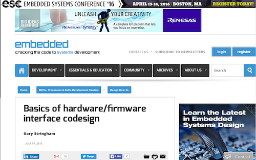 Basics of hardwarefirmware interface codesign