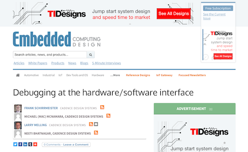 Debugging at the hardwaresoftware interface