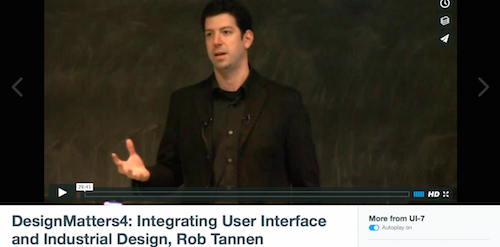 DesignMatters4 Integrating User Interface and Industrial Design Rob Tannen