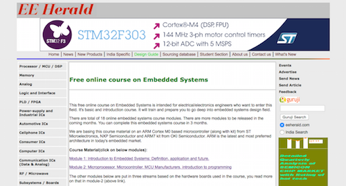 Free Online Course on Embedded Systems