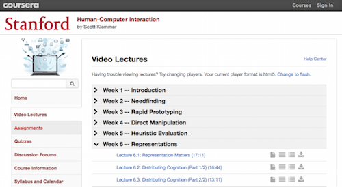 HumanComputer Interaction Video Lectures