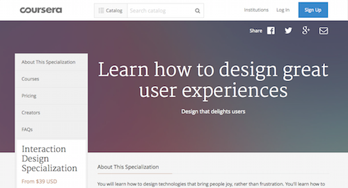 Interaction Design Specialization
