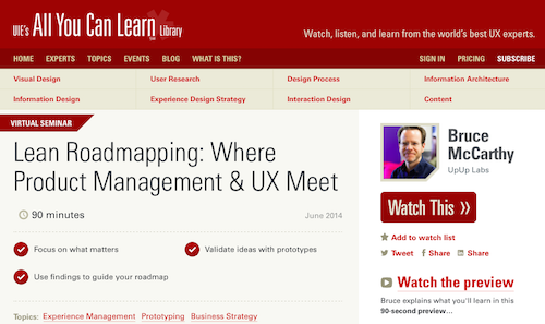 Lean Roadmapping Where Product Management UX Meet