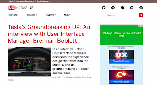 Teslas Groundbreaking UX An interview with User Interface Manager Brennan Boblett